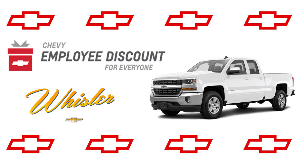 Enjoy the Whisler Chevrolet & Cadillac Employee Discount All December Long