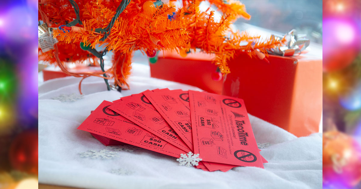 TacoTime's Red Envelope Event is back with Your Chance to Win $50!