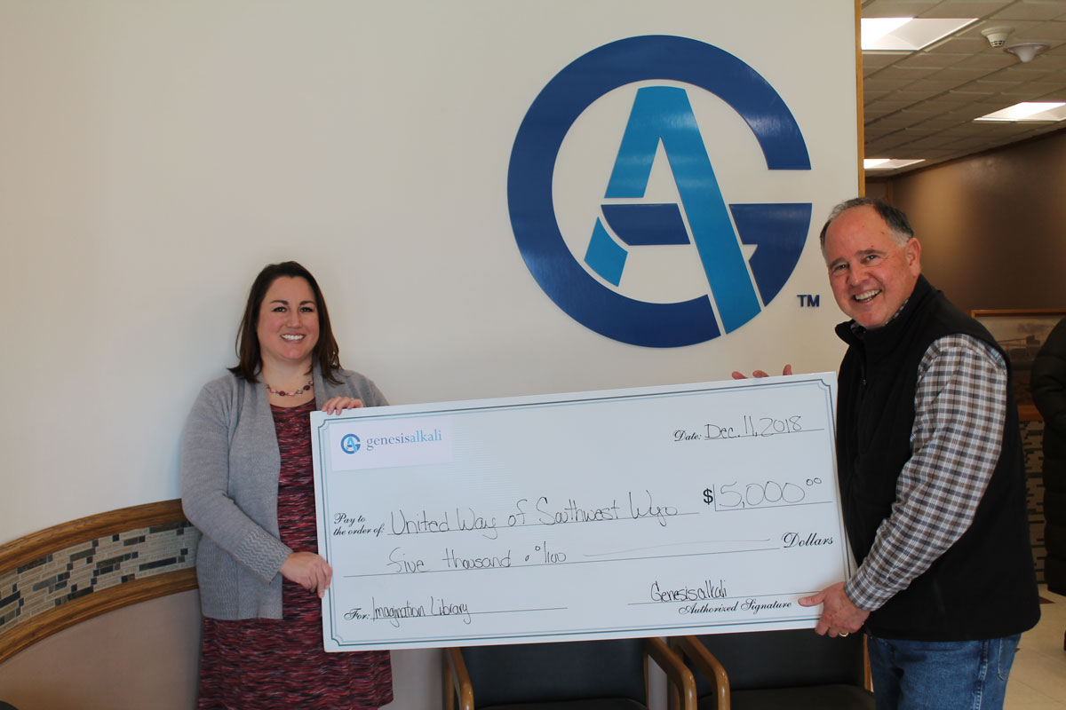 Genesis Alkali Supports United Way Programs