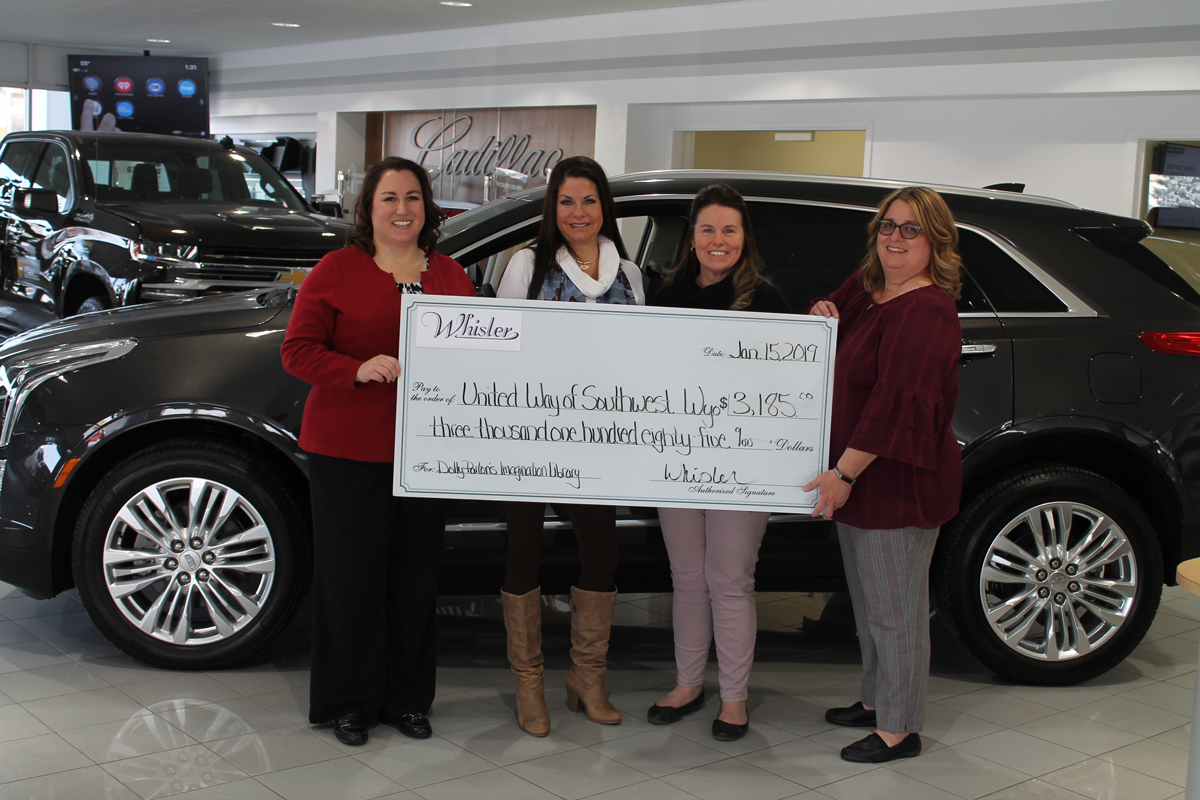 Whisler Chevrolet Makes Generous Donation to United Way Reading Program