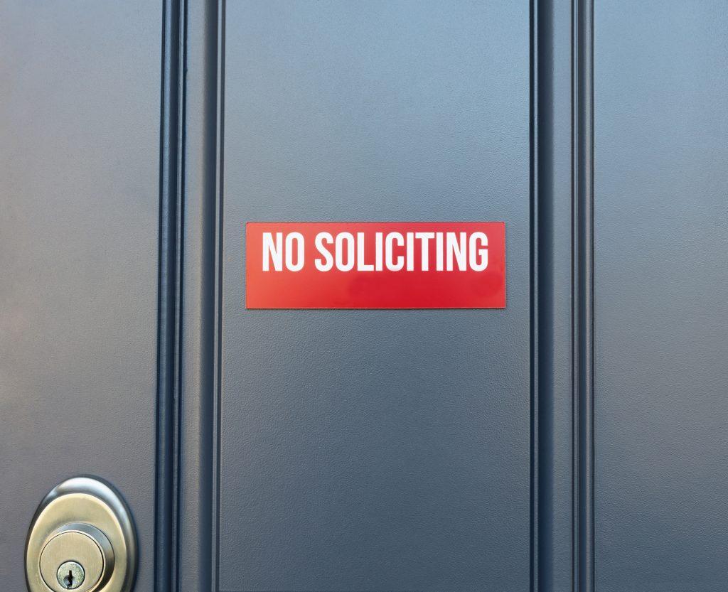 Resident Expresses Concerns Over Door to Door Solicitations