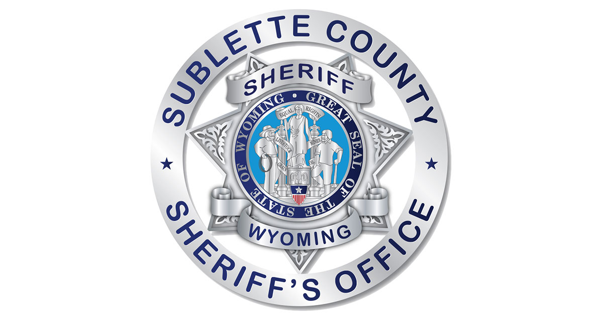 Sublette County Arrest Report for May 20 to May 27