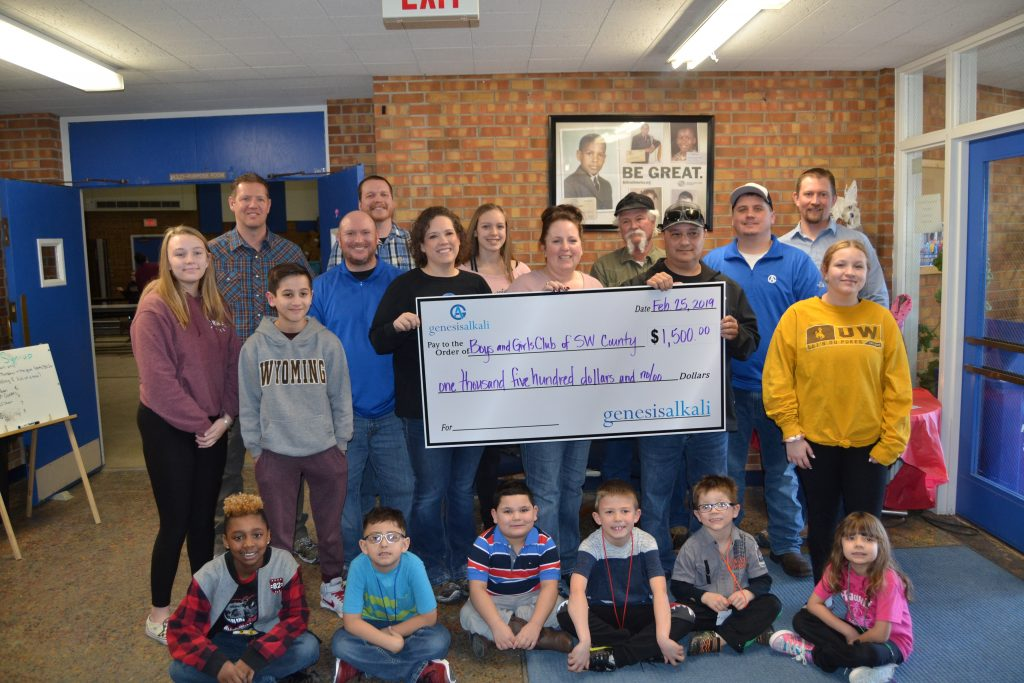 "Genesis Alkali Awards ""Courage to Care"" Donations to Local Organizations"