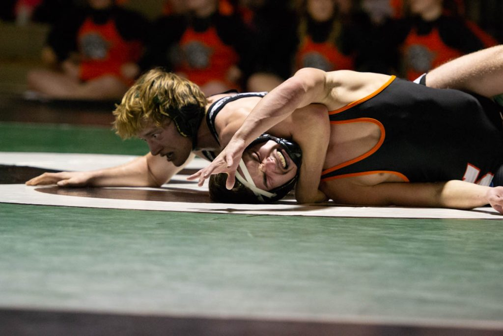 Wolves Wrestlers Best the Tigers in Rivalry Dual