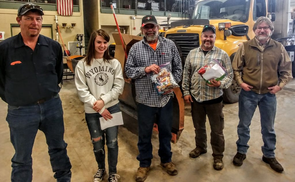GRHS National Honor Society Gives Care Packages to WYDOT Plow Truck Drivers