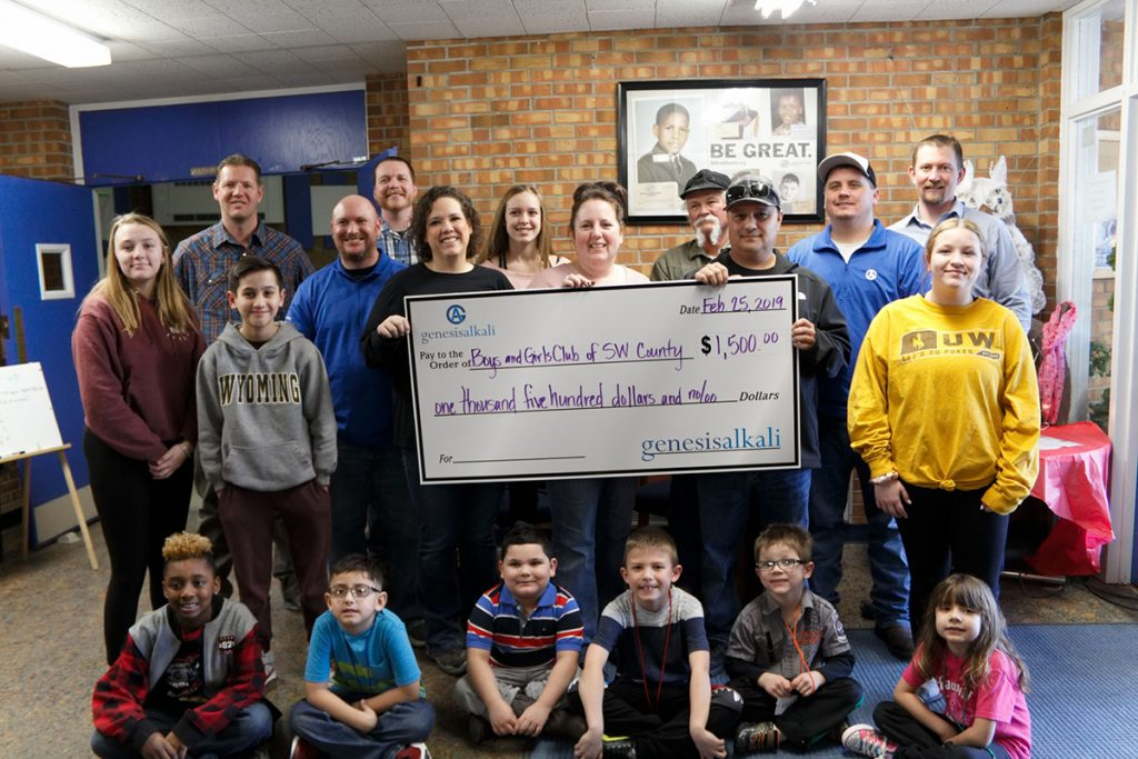 Genesis Alkali – Sesqui Plant Donates $1,500 to the Boys & Girls Club of Sweetwater County