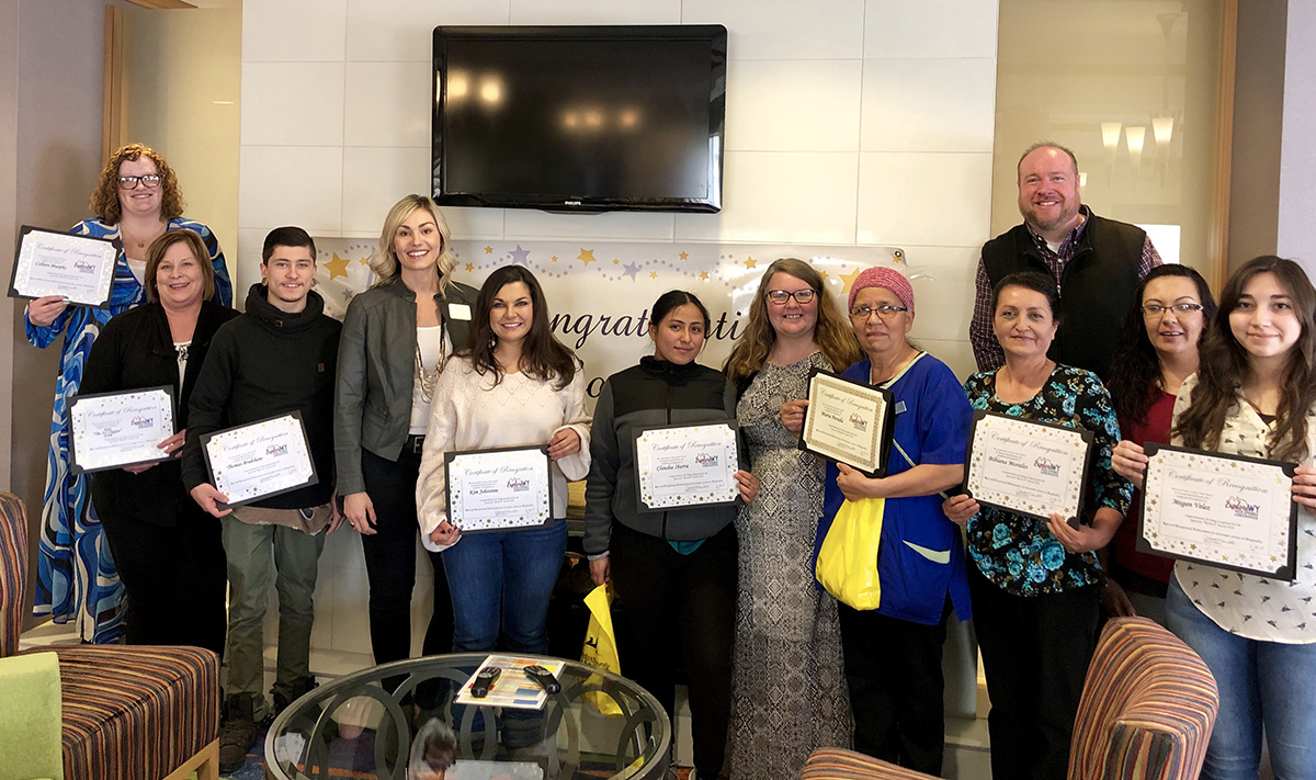 Travel and Tourism Honors Spring 2019 R.E.A.C.H. Award Winners