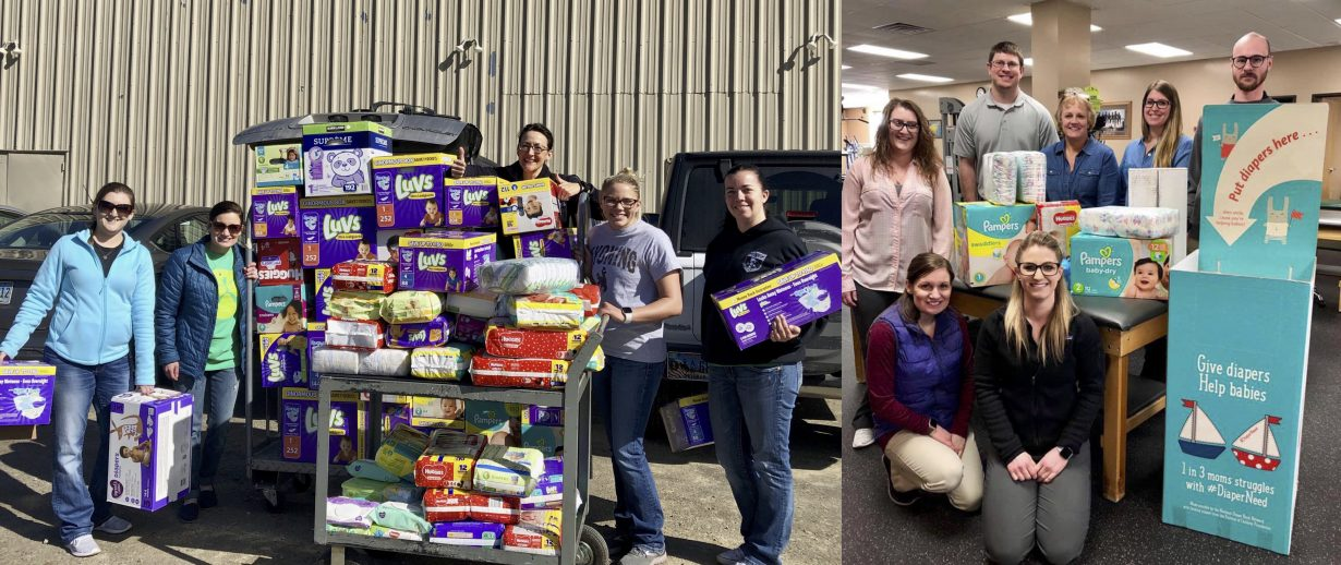 Community Helps Local Physical Therapy Clinics Collect 13,000 Diapers!