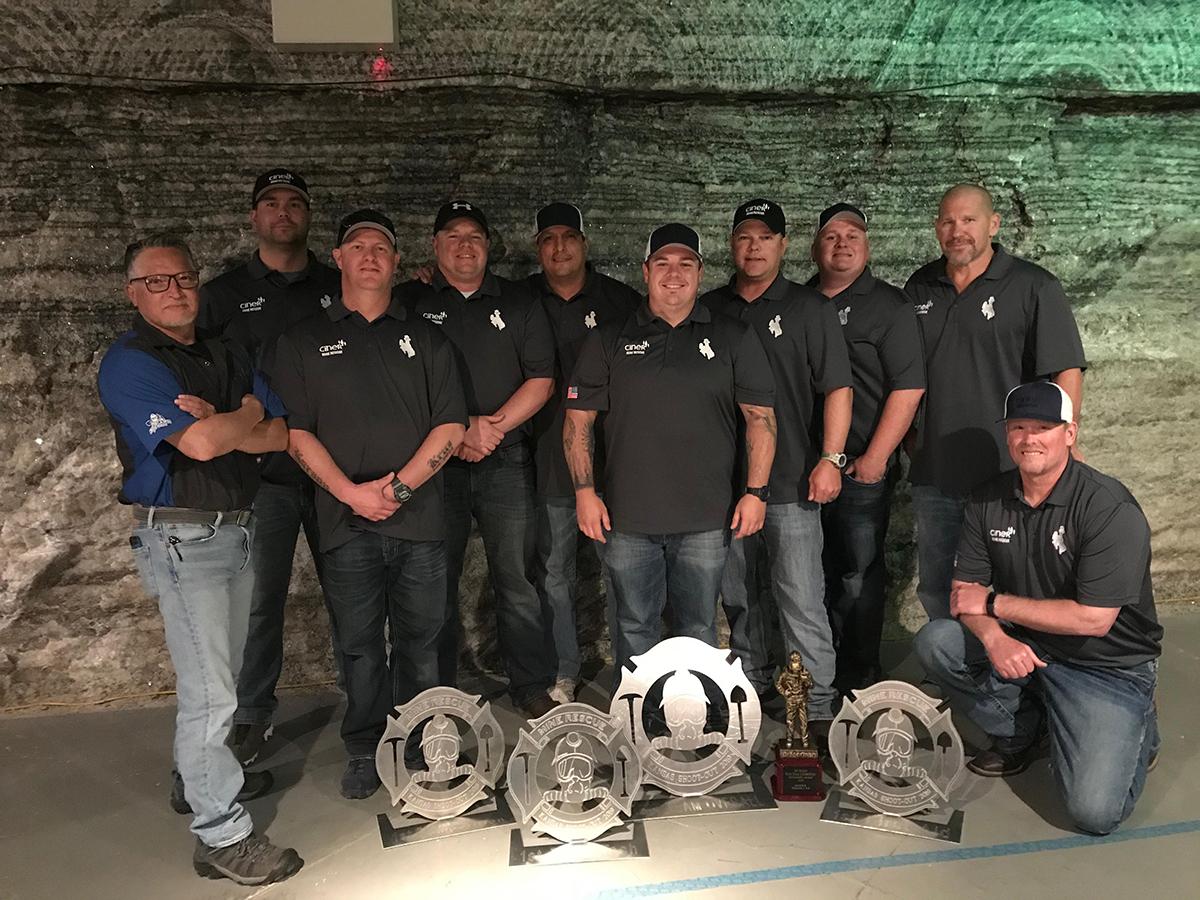 Ciner Blue Team Dominates Competition at Kansas Shootout Mine Rescue Event