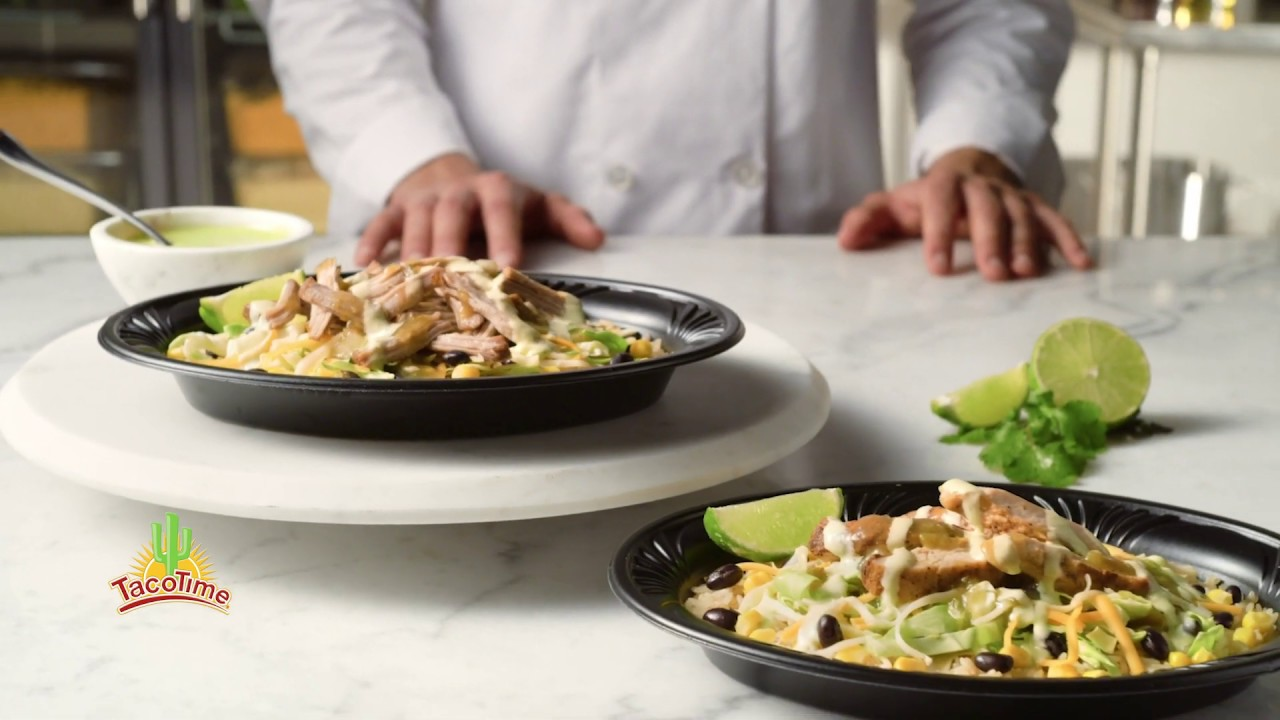 Get Freshness FAST With TacoTime's Cilantro Lime Bowls