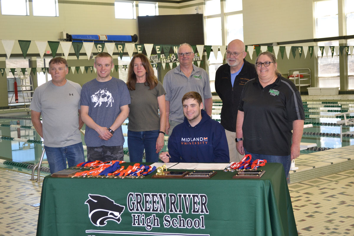 GRHS Star Swimmer Signs with Midland University