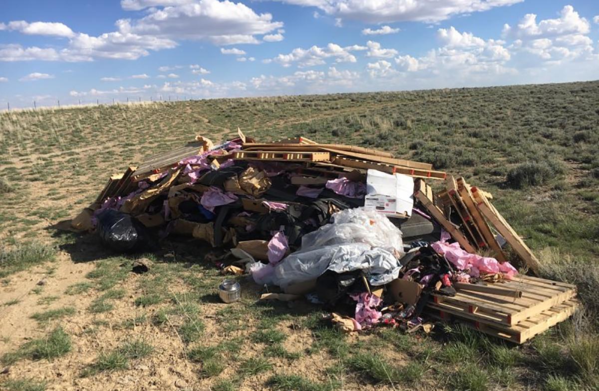 BLM High Desert District Investigates Debris Dumped in Farson, Penalizes Offender
