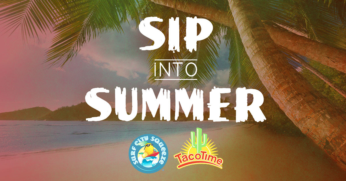 Sip Your Way into Summer at TacoTime with Surf City Smoothies & Chillers and $1 Limeades
