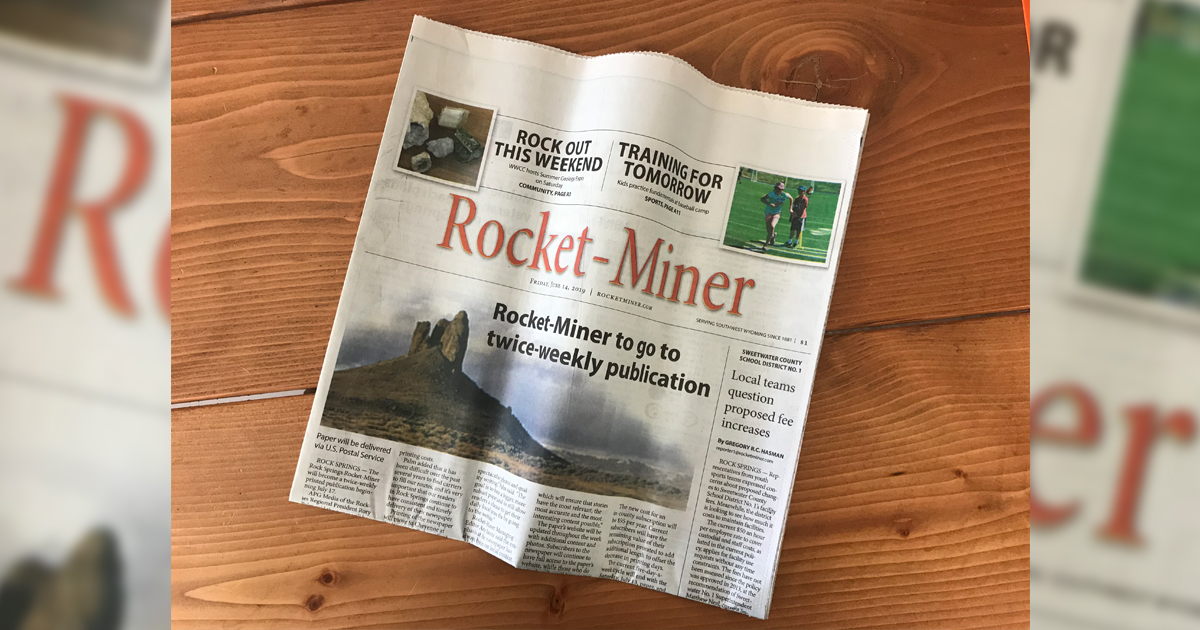 Rocket-Miner to Cut Back Publication to Twice a Week