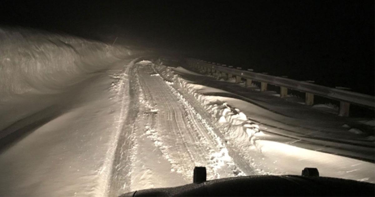 Stranded Motorist Rescued in June Snowstorm
