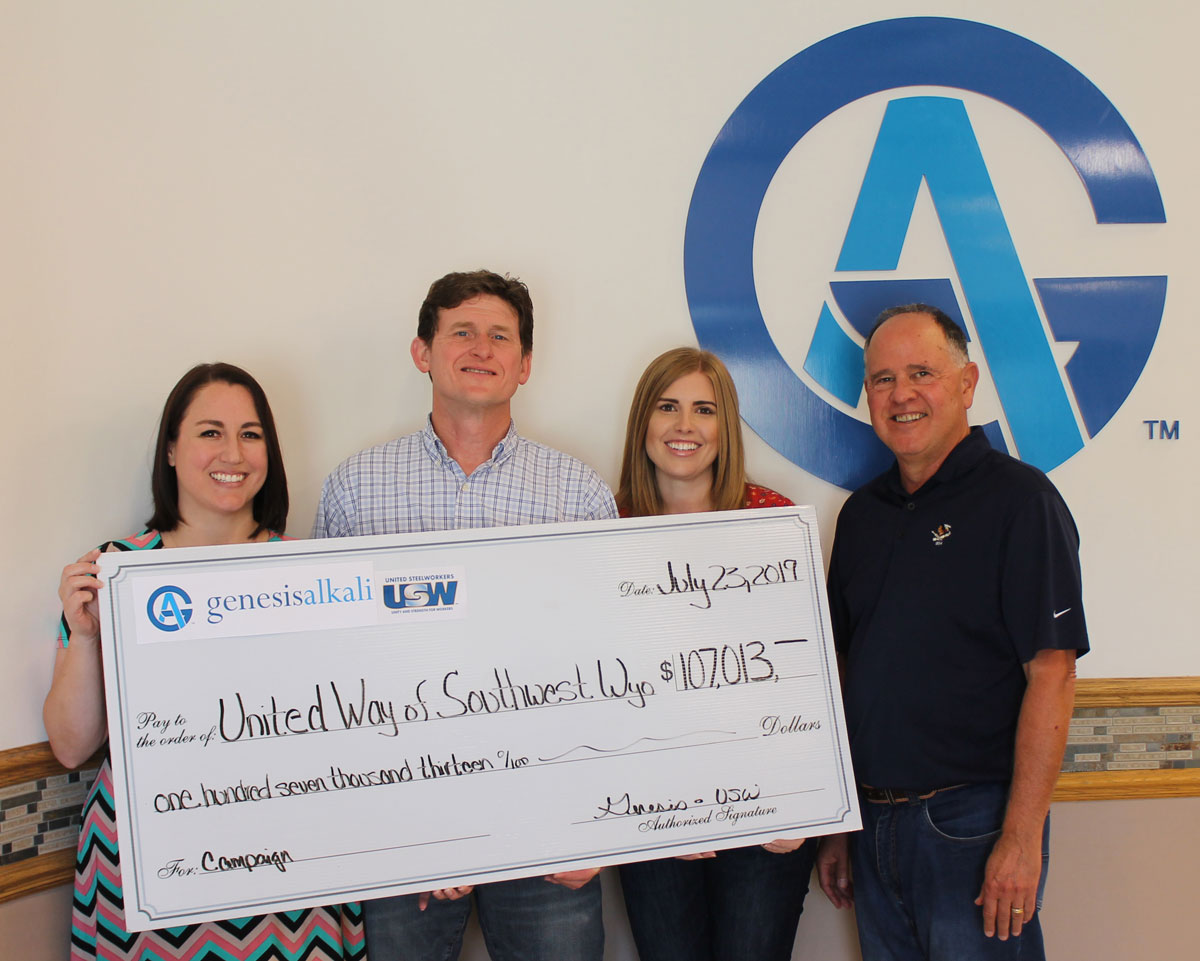 Genesis Alkali Supports United Way