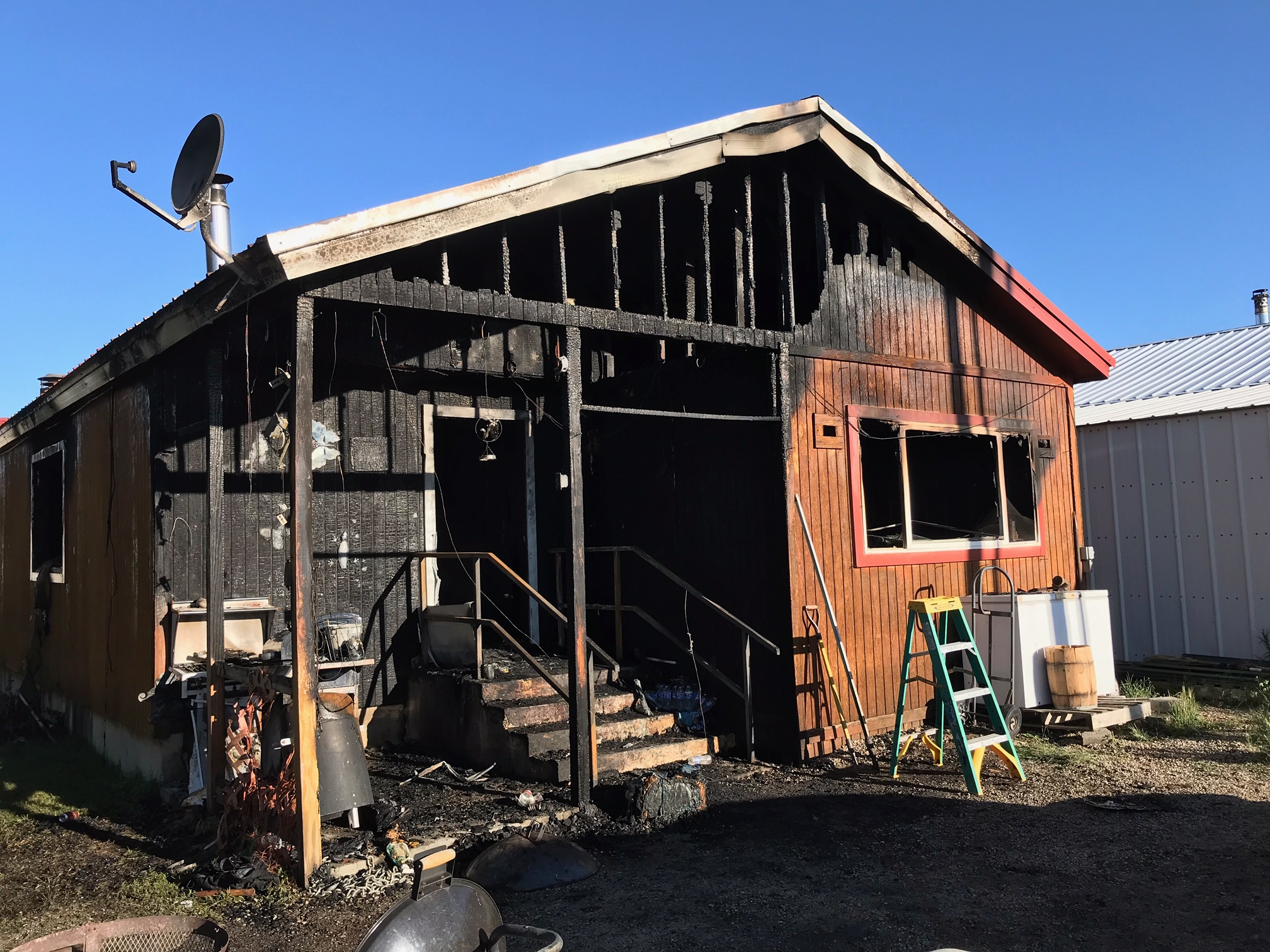 Sublette County First Responders React to Structure Fire in Pinedale