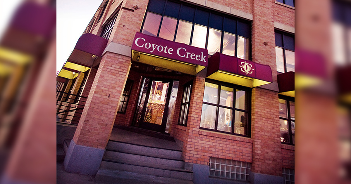 Coyote Creek Ends Lunch Service; But Fine Dining Still Awaits You Six Nights a Week