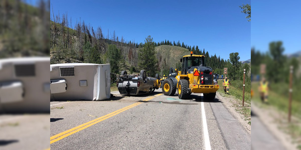 Truck Crashes on US 191 Near Cliff Creek