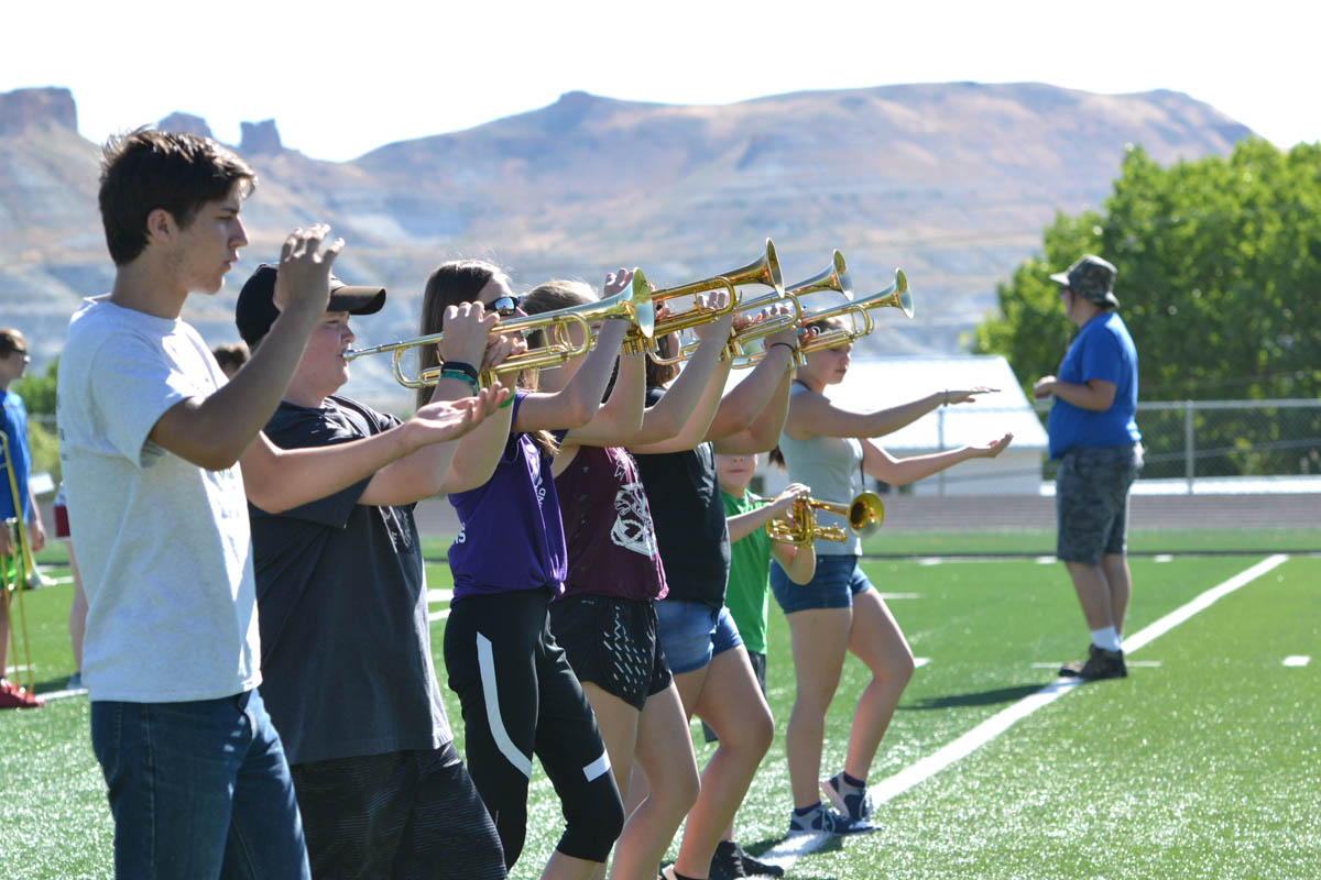 GRHS Marching Band Gets to Work [PHOTOS]