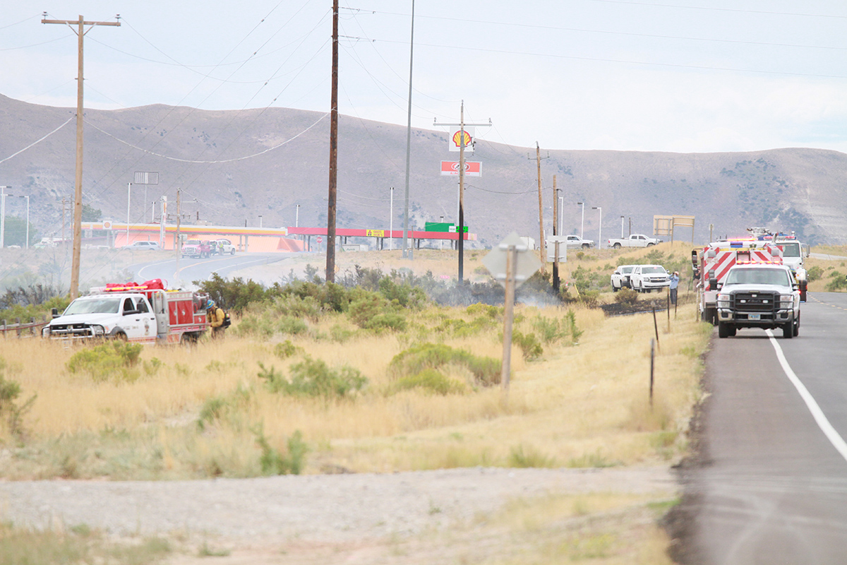 Single-Vehicle Accident Causes Fire East of Crueljack's Truck Stop