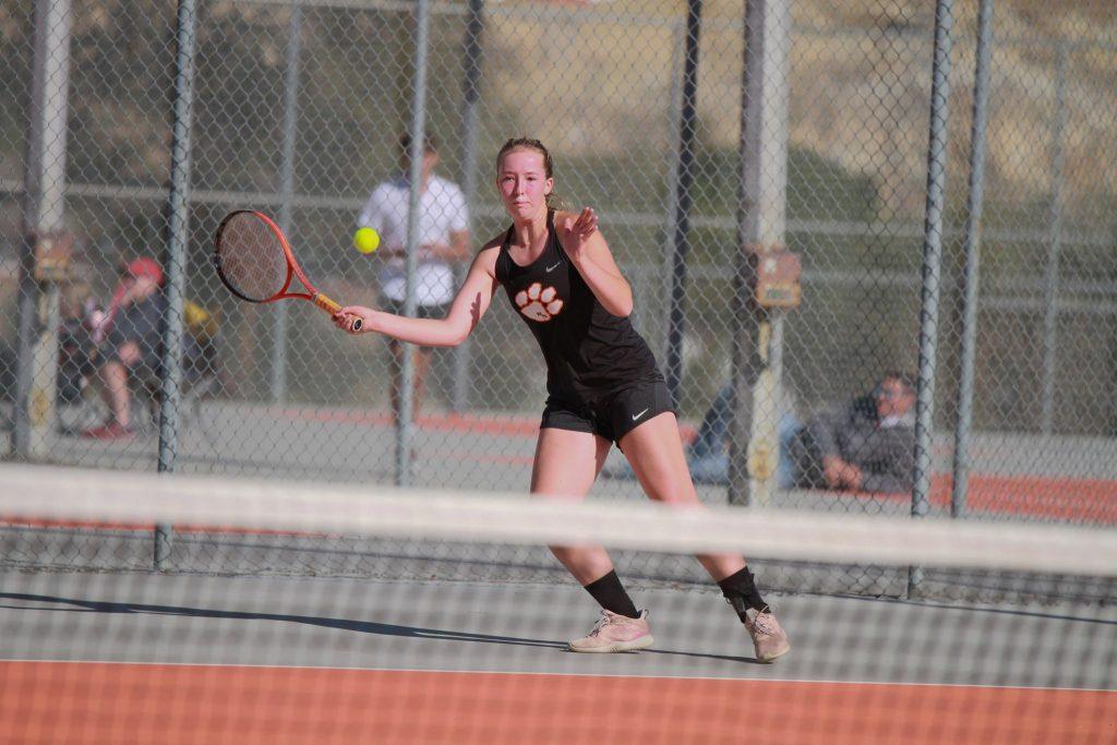 RSHS Tennis Battle in Regional Tennis Tournament, Girls Finish Fourth