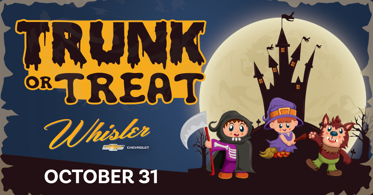 BUSINESSES! Sign Up for Whisler's Community Trunk or Treat this Halloween