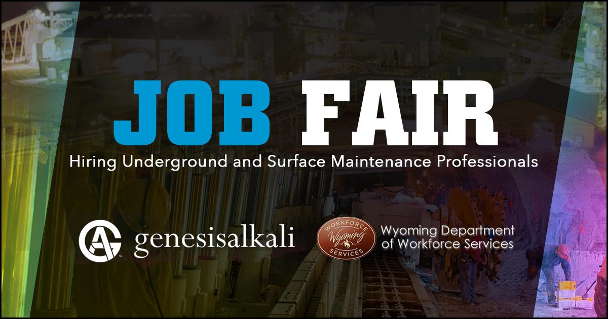 Pre-Register for the Genesis Alkali Maintenance Job Fair