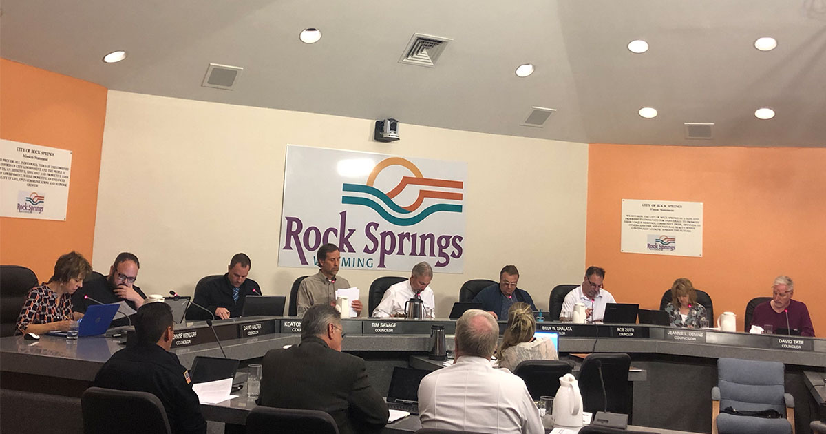Rock Springs City Council Agenda for December 17
