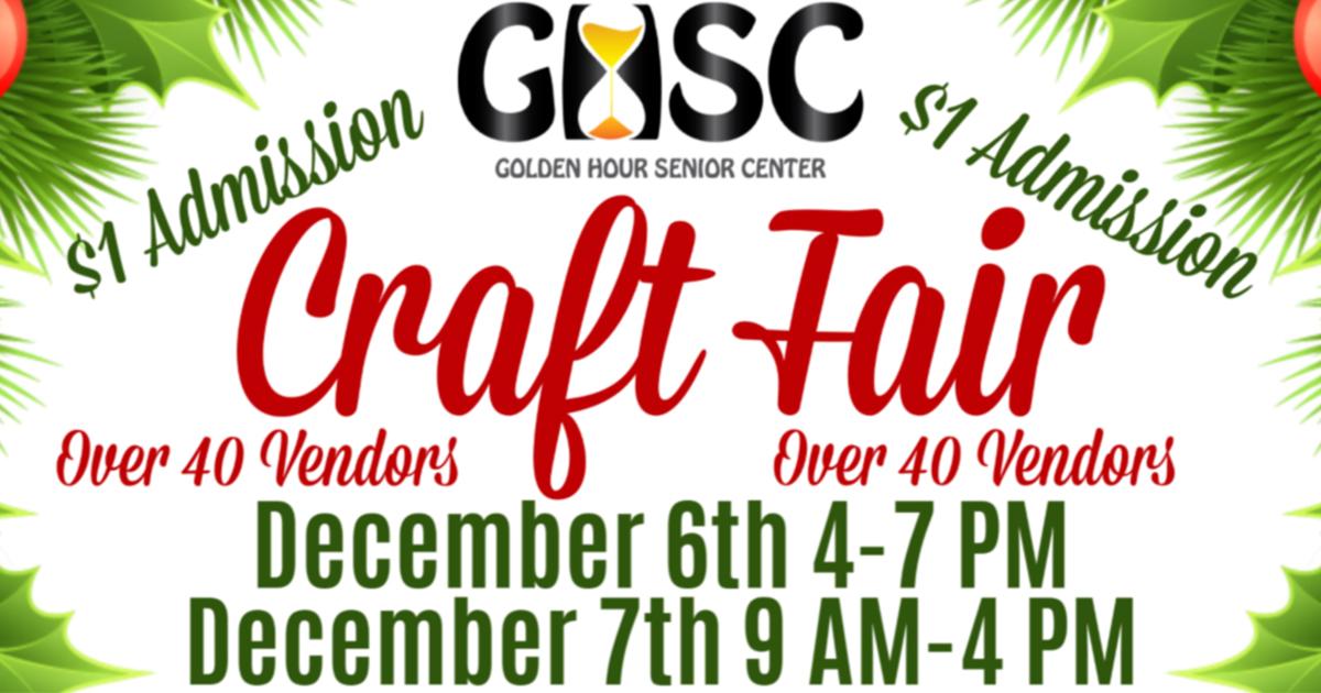 Mark Your Calendars for the Annual Golden Hour Senior Center Craft Fair
