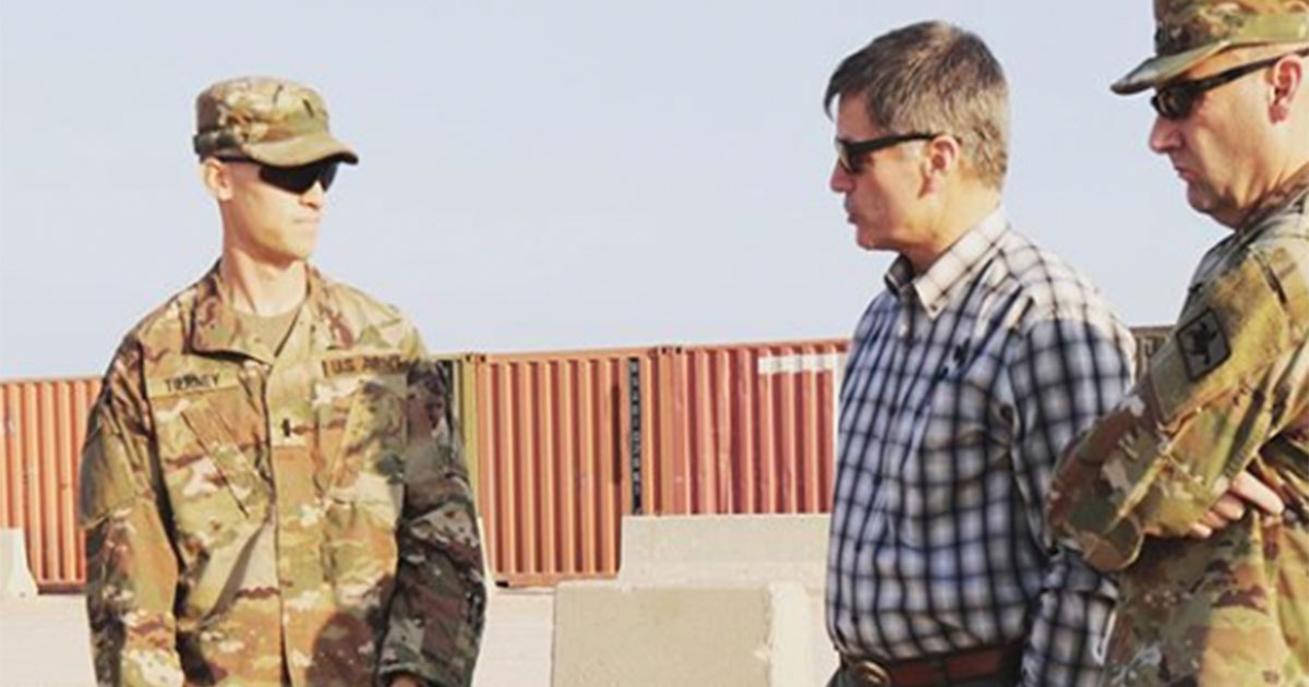 Governor and First Lady Spend Thanksgiving with Deployed Wyoming Army National Guard Soldiers