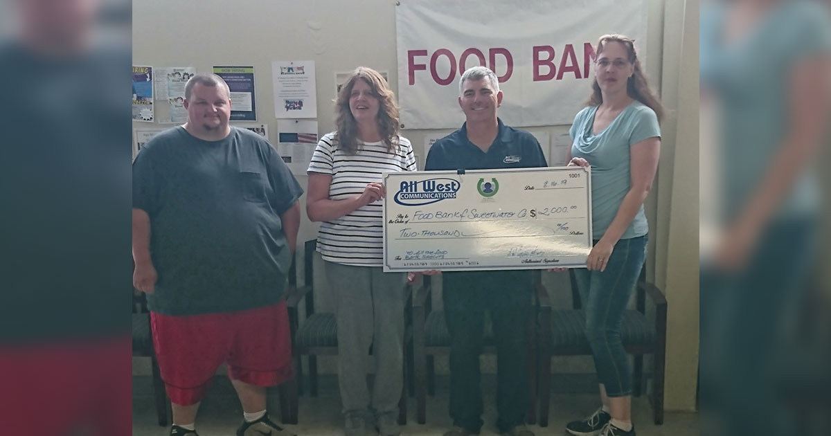 Local Food Banks Receive $2,000 from All West and CoBank