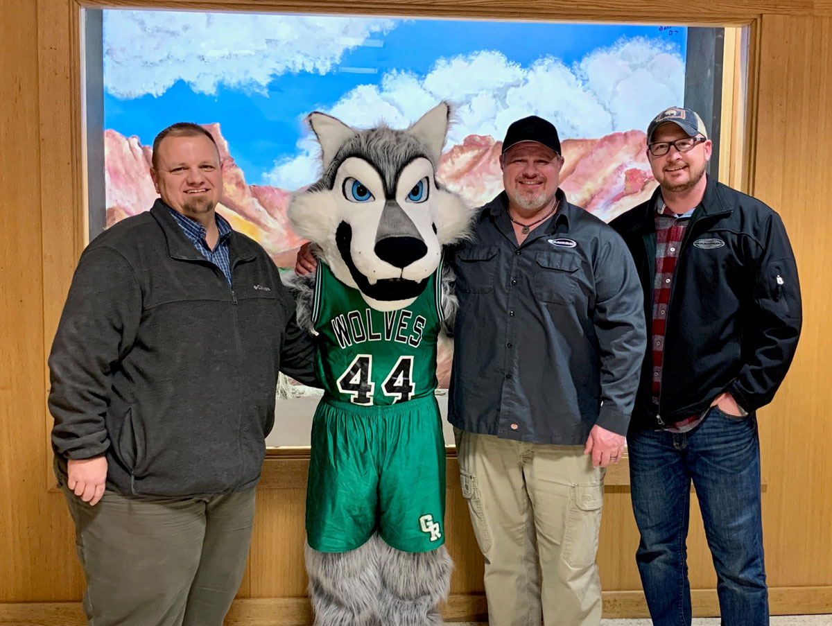 Green River High School Receives New Wolf Mascots