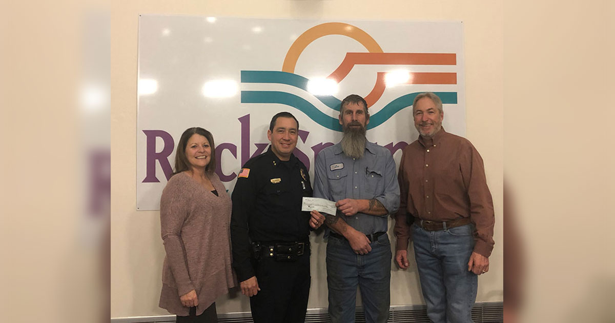 UMWA Makes Donation to RS Police Department