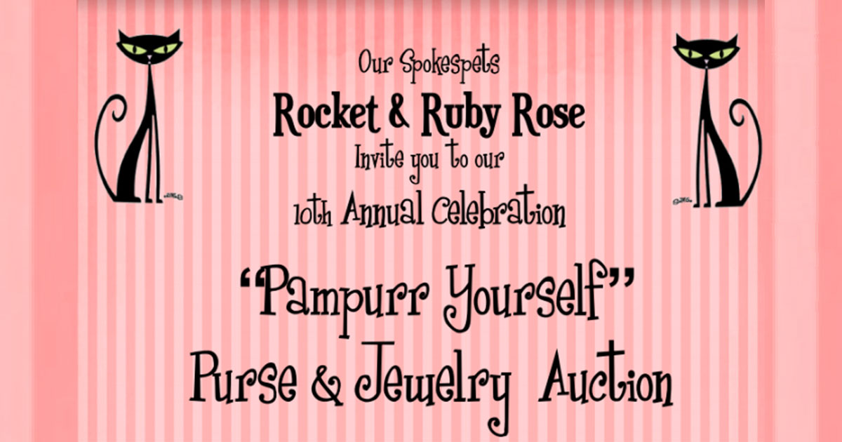 You're Invited to the 10TH ANNUAL  Pampurr Yourself Purse & Jewelry Auction