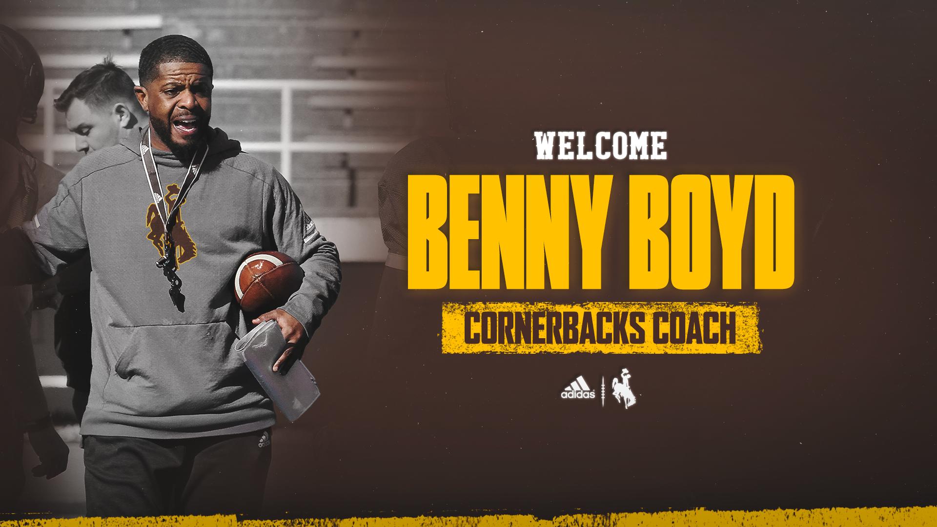 Benny Boyd Joins Wyoming Football Staff as Cornerbacks Coach