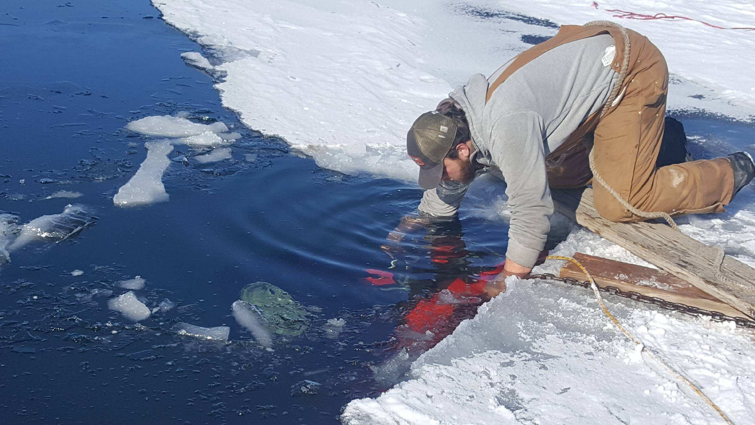 Local Ice Fisherman Thanks Many for Help After 4-Wheeler Goes Through Ice