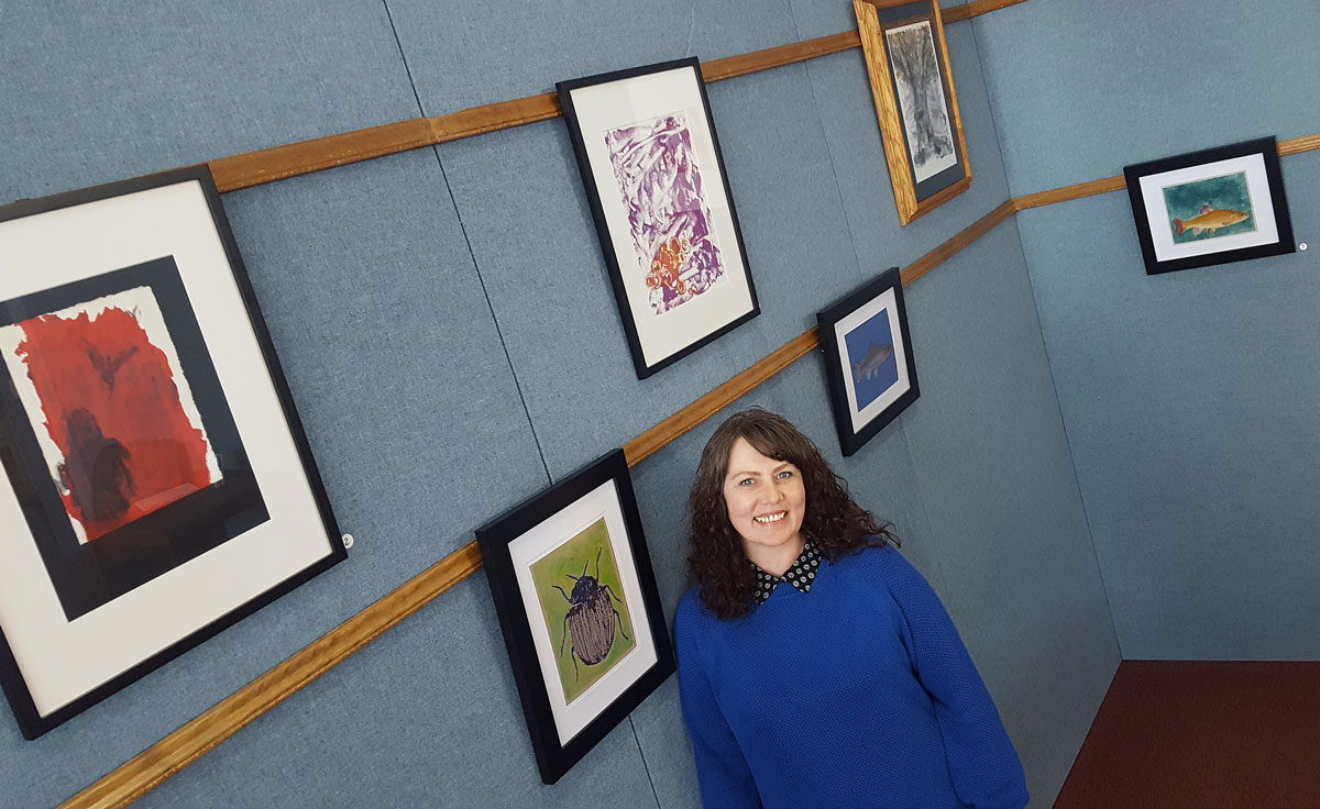 Green River Artist Exhibits Artwork at White Mountain Library