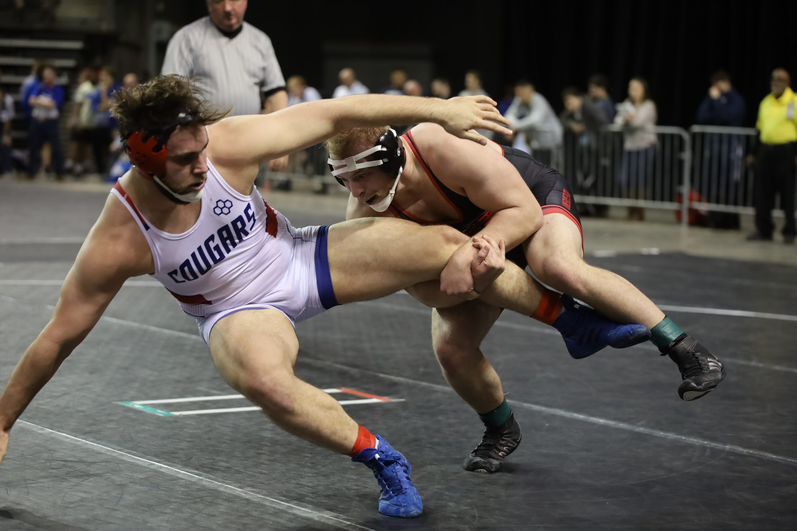 Mustangs Advance Six Wrestlers to Championship Quarterfinals