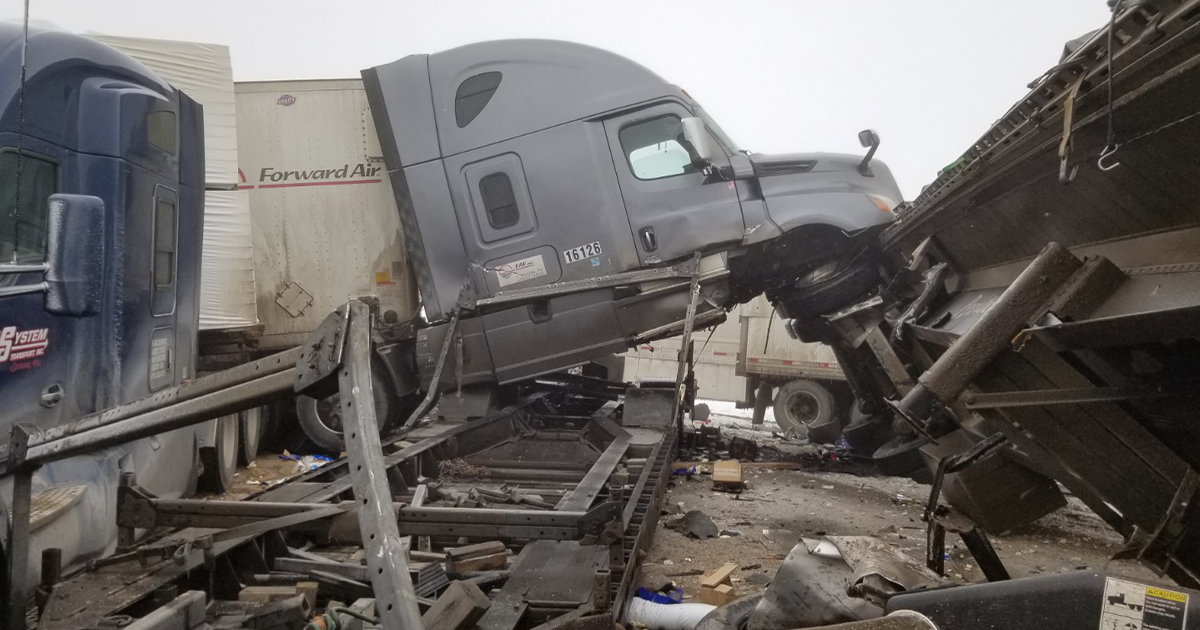 Witness Shares Videos and Account of 27-Vehicle I-80 Crash