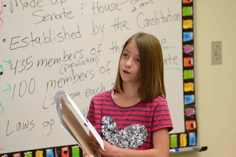 Eastside Elementary School students receive civics lesson