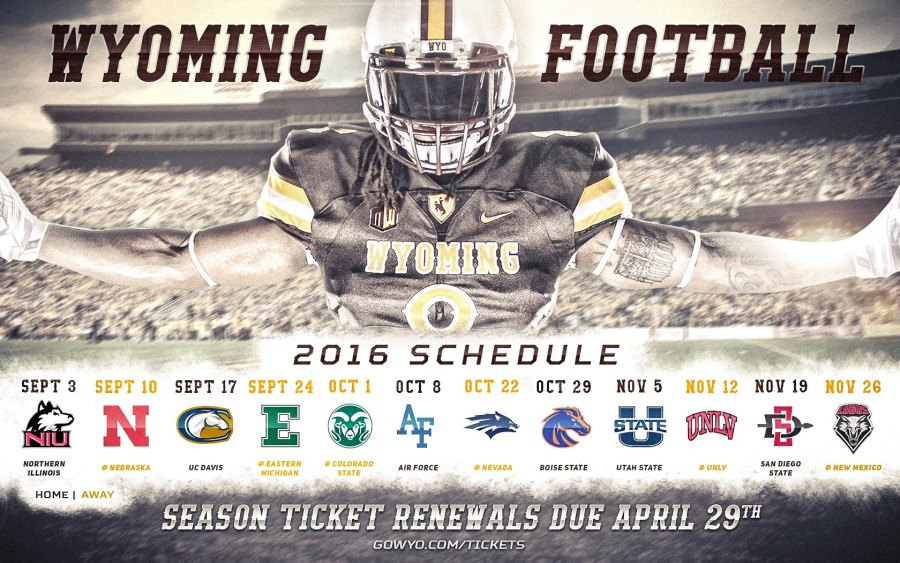 Wyoming Announces 2016 Football Schedule Sweetwaternow