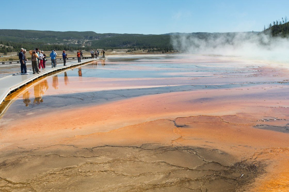 Charges Officially Filed Against Men Who Walked On Grand Prismatic Spring