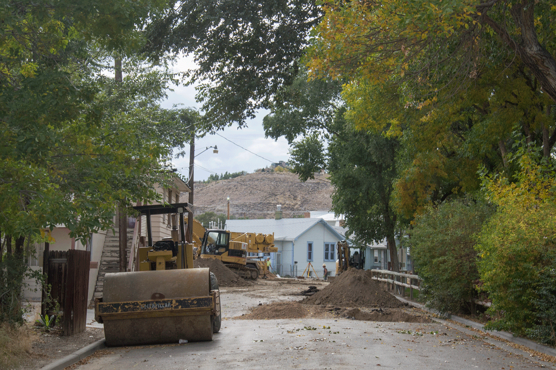 Construction in Downtown Rock Springs Continues to Move Foward