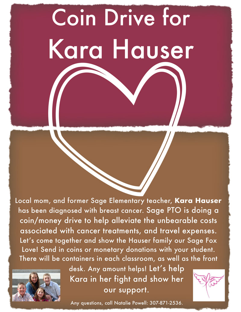 Sage Elementary PTO Starts 'Coins for Kara' Fund Raising