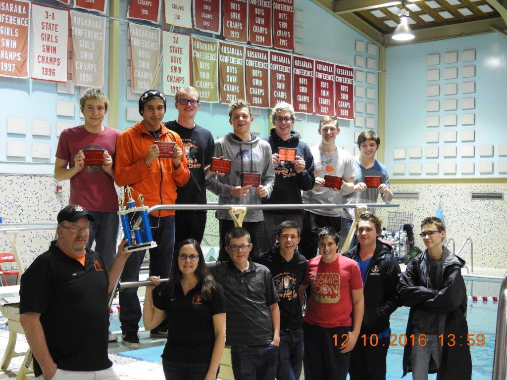 Tigers Swim and Dive Team Win Rawlins Pentahlon