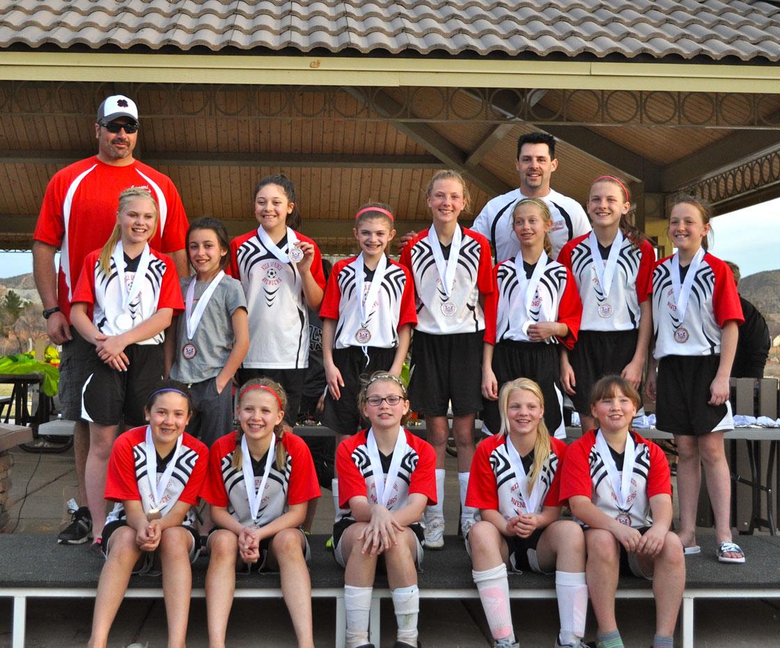 U12 Girls Avengers Take Second Place at 2016 Icebreaker Tournament