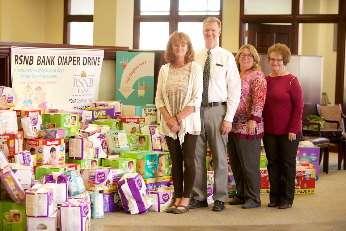 RSNB Bank Diaper Drive Donates Over 15,800 Diapers