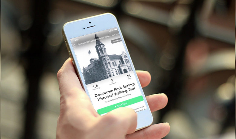 New App Features Walking Tour Guide of Downtown Rock Springs