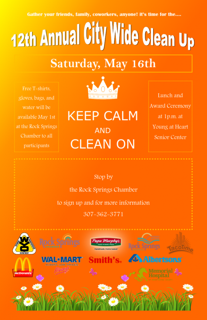 Get Your Team Together for the 12th Annual City Wide Cleanup!